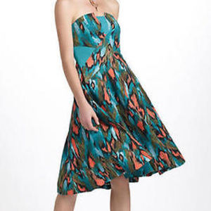 Anthro Xs 0  Girls From Savoy Painted Ikat Dress